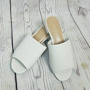 Ivory Open Toe Slides